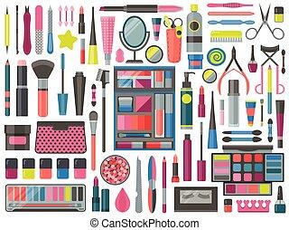 Equipo de herramientas de maquillaje