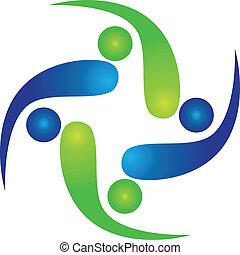 Equipo de logotipo de swooshes