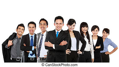 Equipo de negocios asiáticos