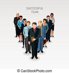 Equipo de negocios exitoso