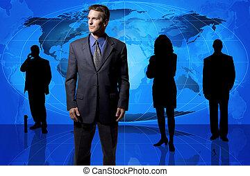 Equipo de negocios global