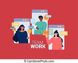 equipo de trabajo, cartel