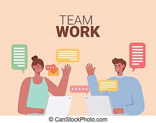 equipo de trabajo, letras