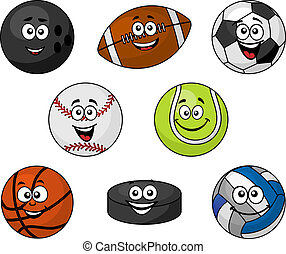 Equipo deportivo de dibujos animados