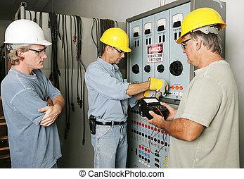 Equipo eléctrico en el trabajo