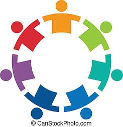 Equipo en un logotipo de imagen 7