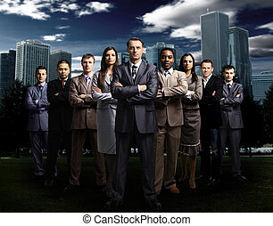 Equipo internacional de negocios