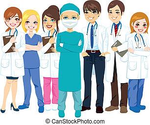 Equipo médico del hospital
