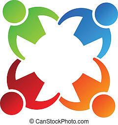 Equipo mantenga 4 elementos de diseño de logo