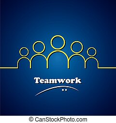 Equipo, trabajo en equipo, líder vector de liderazgo concepto gráfico