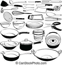 Equipo utensilio de cocina