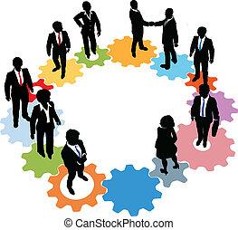 Equipos de equipo de negocios