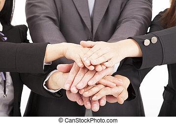 Equipos de negocios juntos para el concepto de trabajo en equipo