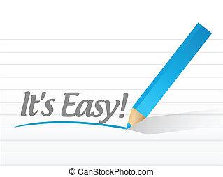 Es fácil escrita en un papel blanco. Ilustración