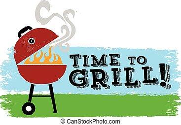 Es hora de parrilla BBQ