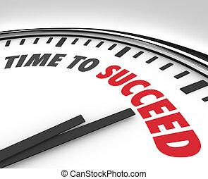 Es hora de tener éxito con las palabras en un gol exitoso