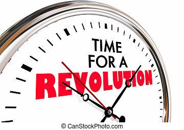 Es hora de una revolución de un gran cambio de reloj 3D de ilustración