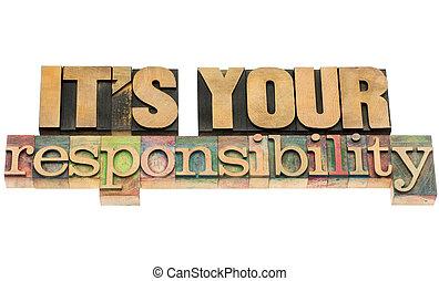 Es tu responsabilidad