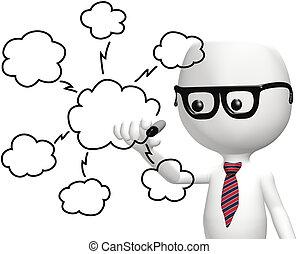 Es un programador inteligente, dibujando nubes