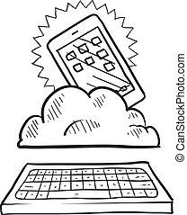 Esbozo computado por Cloud