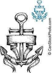 Esbozo de anclaje de marines con cinta