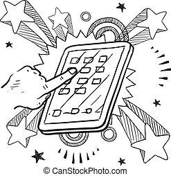 Esbozo de dispositivo móvil