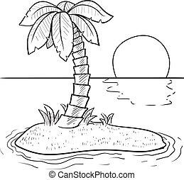Esbozo de isla tropical