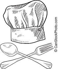 Esbozo de sombrero Chef