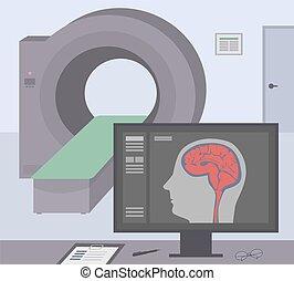 Escáner de diagnóstico MRI / TAC.