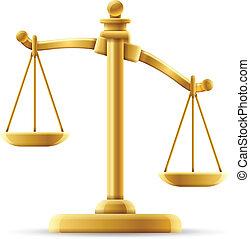 escala de la justicia, desequilibrado
