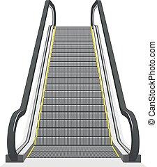 Escalador aislado en fondo blanco