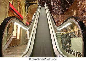 Escalador en la tienda