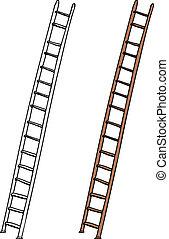 escalera, aislado