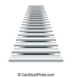 escalera, blanco