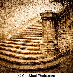 Escalera de ladrillos