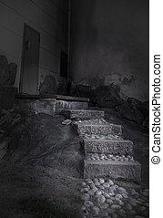 Escalera espeluznante