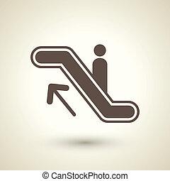 escalera mecánica, icono