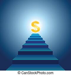 Escaleras al éxito financiero