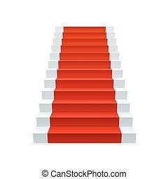 Escaleras de alfombra roja