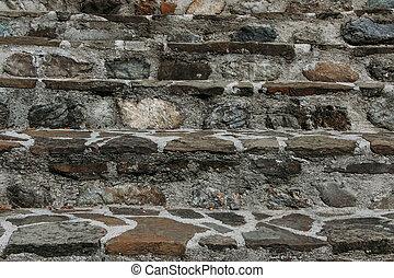 Escaleras de piedra en el parque