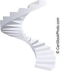 Escaleras espirales.