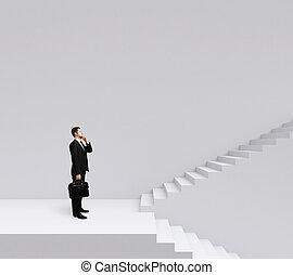 escaleras, posición empresario