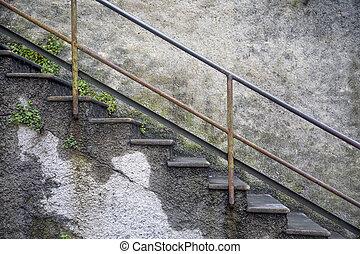 Escaleras viejas
