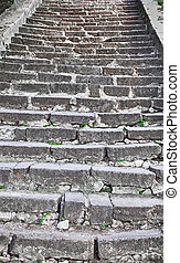 escaleras, viejo
