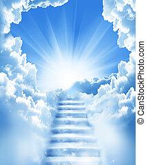 Escalones en el cielo