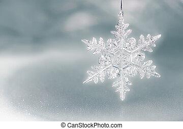 escama, feriado, nieve, plano de fondo