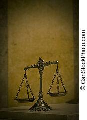 Escamas decorativas de la justicia
