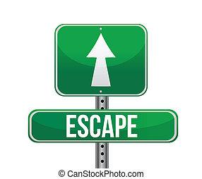 escape, muestra del camino