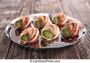 escargot, gastronomía francesa