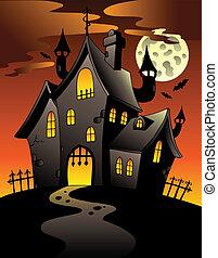 Escena con mansión Halloween 1